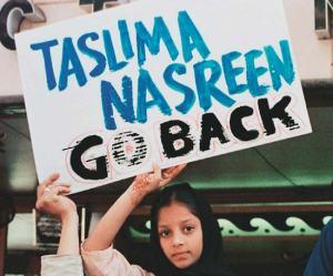 Protest against Taslima Nasreen